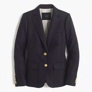 J Crew Rhodes Black Blazer Jacket Coat 12 T L